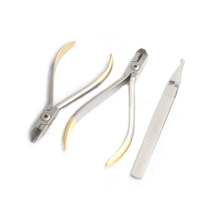 Kit of 3 Bracket Holding Tweezers